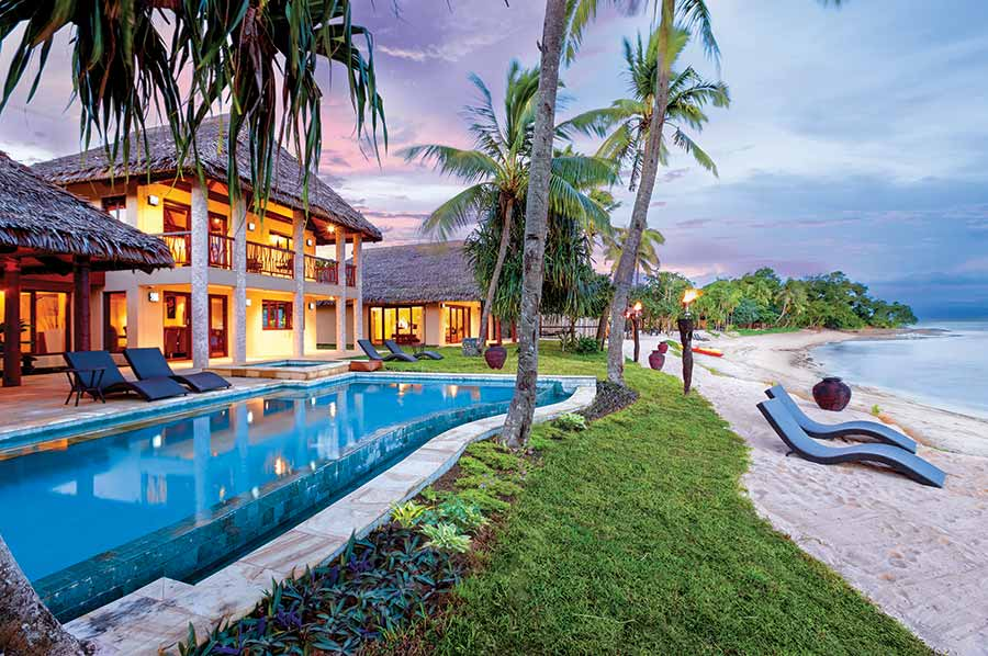 Beachfront villa steps from the ocean